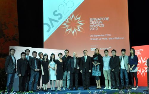 Designers and members of the Electrolux Asia Pacific Product & Brand team at the Awards ceremony
